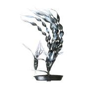 Валлиснерия черно-белая 13см, растение пластиковое перламутровое Marina®
