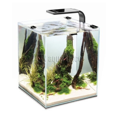 Аквариум Aquael Shrimp Set Smart Plant 20, черный, (набор содержащий все необходимое для запуска)